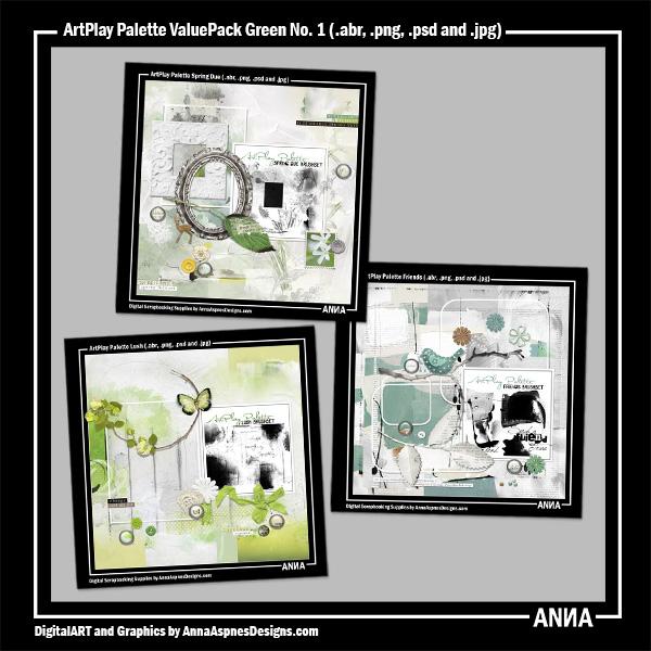 ArtPlay Palette ValuePack Green No. 1