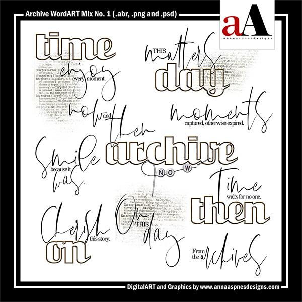 Archive WordART Mix No. 1