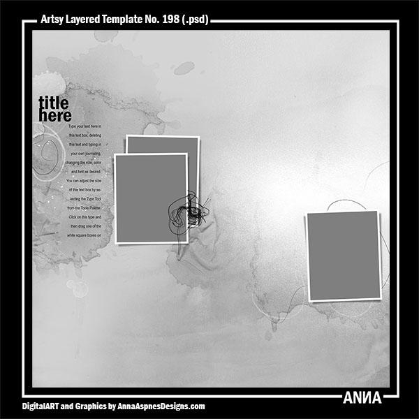 Artsy Layered Template No. 198