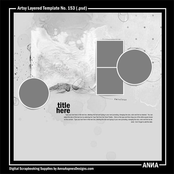 Artsy Layered Template No. 153