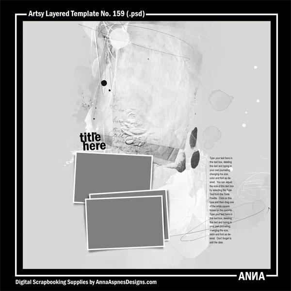 Artsy Layered Template No. 159