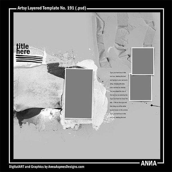 Artsy Layered Template No. 191