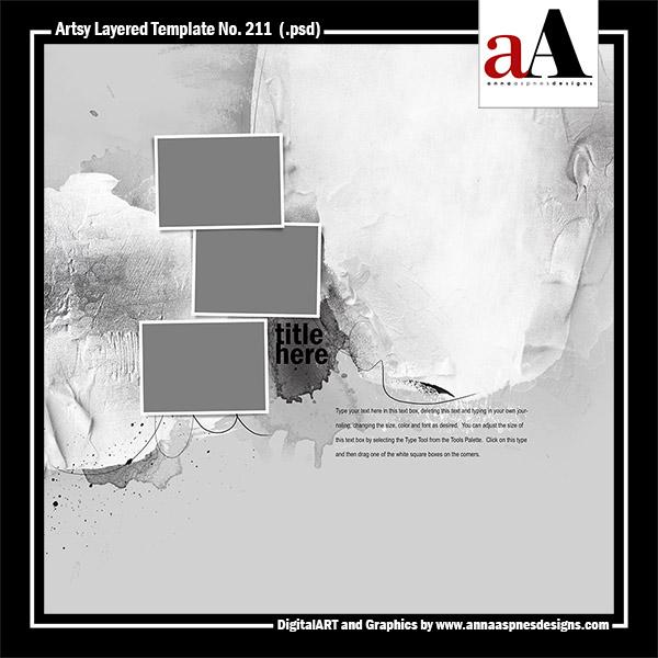 Artsy Layered Template No. 211