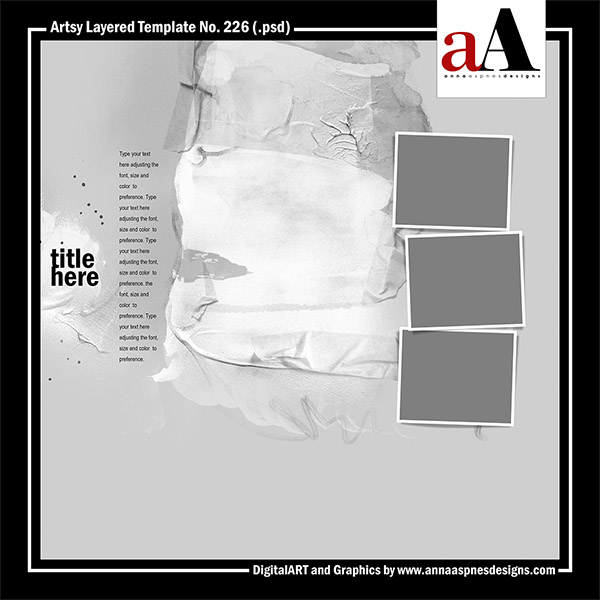 Artsy Layered Template No. 226