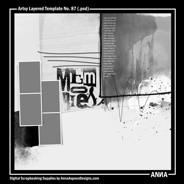 Artsy Layered Template No. 87