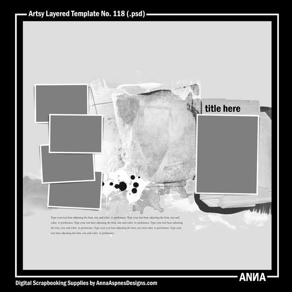 Artsy Layered Template No. 118