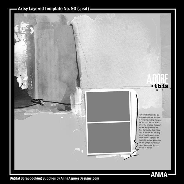 Artsy Layered Template No. 93
