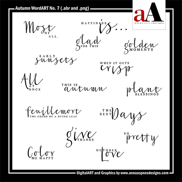 Autumn WordART No. 7