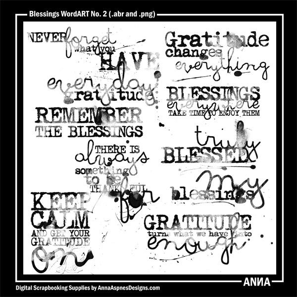 Blessings WordART No. 2
