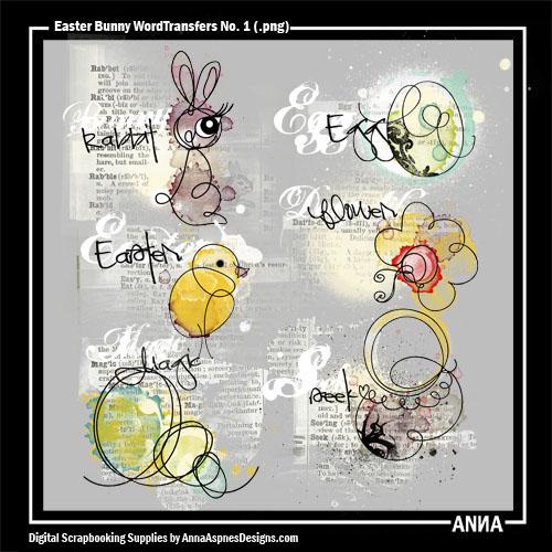 Easter Bunny WordTransfers No. 1