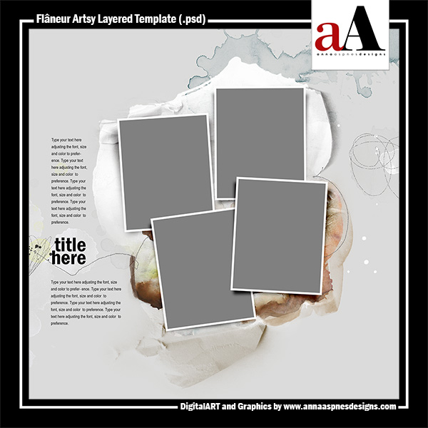 Flaneur Artsy Layered Template