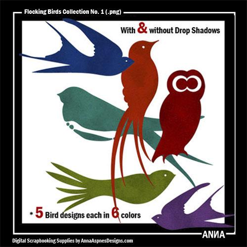 Flocking Birds Collection No. 1