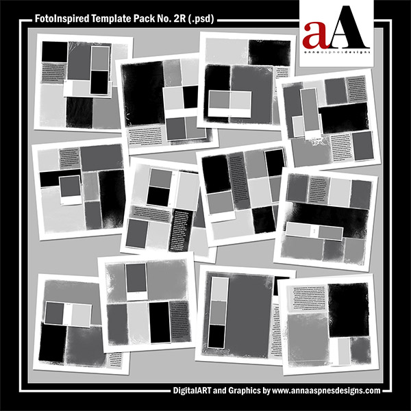 FotoInspired Template Pack No. 2R