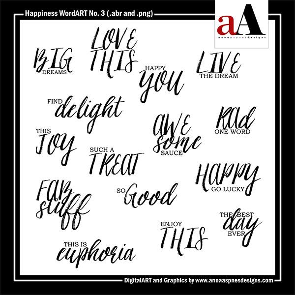 Happiness WordART No. 3