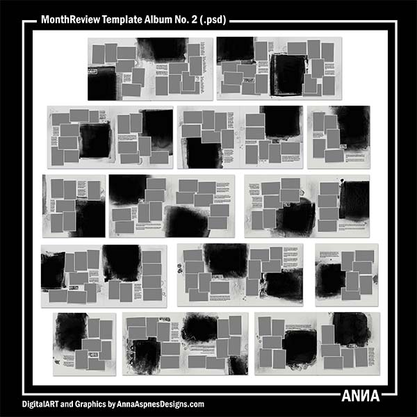 MonthReview Template Album No. 2