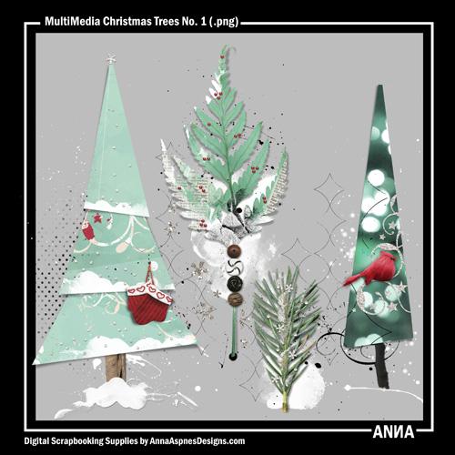 MultiMedia Christmas Trees No. 1