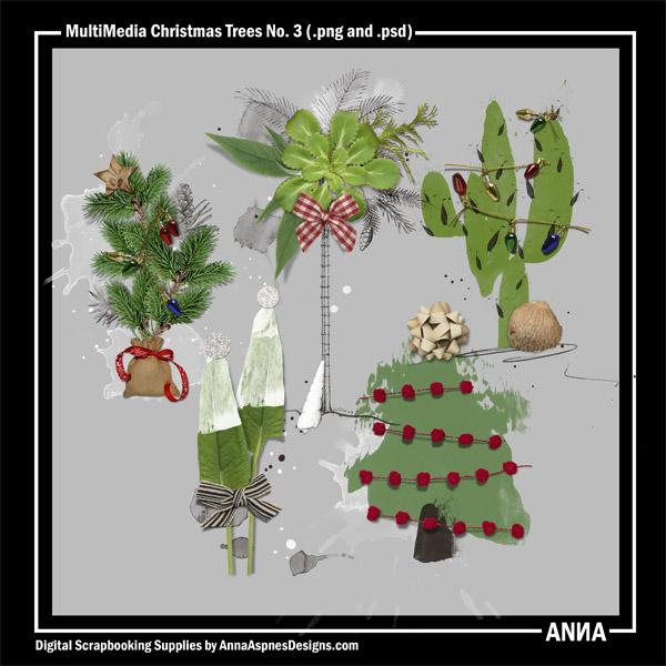 MultiMedia Christmas Trees No. 3