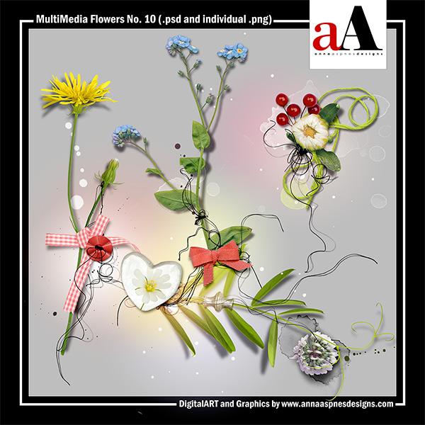MultiMedia Flowers No. 10