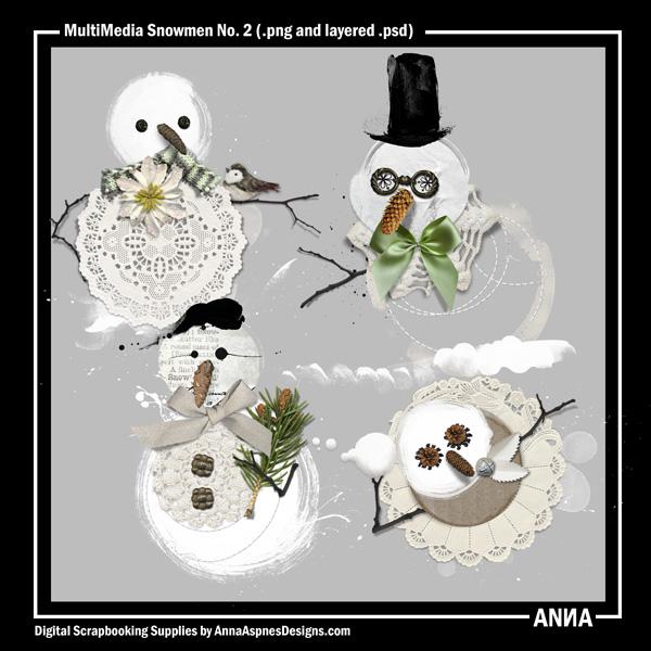 MultiMedia Snowmen No. 2