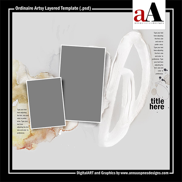 Ordinaire Artsy Layered Template