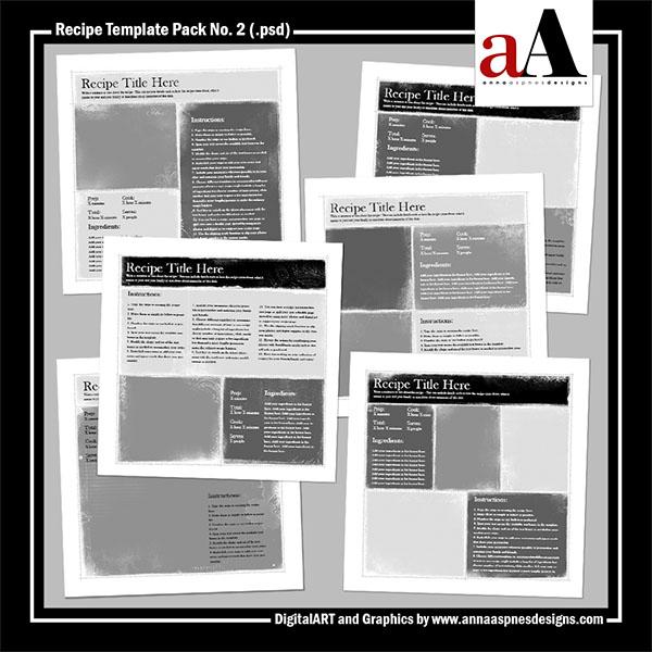 Recipe Template Pack No. 2