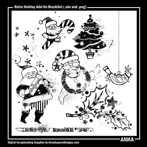 Retro Holiday Add-on BrushSet
