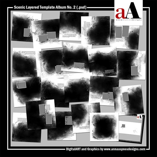 Scenic Layered Template Album No. 2