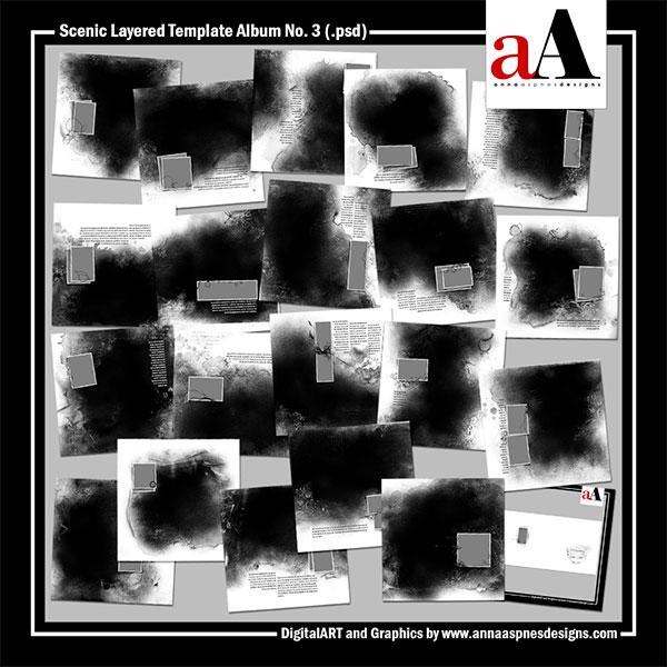Scenic Layered Template Album No. 3