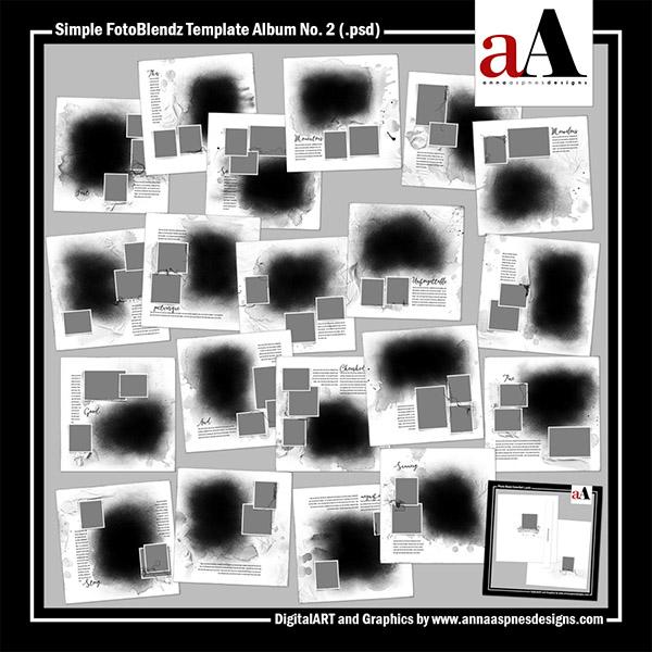 Simple FotoBlendz Template Album No. 2