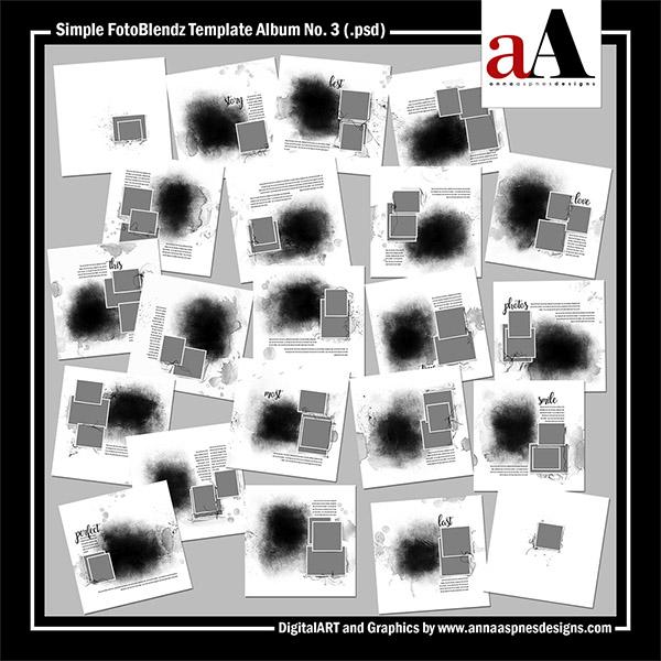 Simple FotoBlendz Template Album No. 3