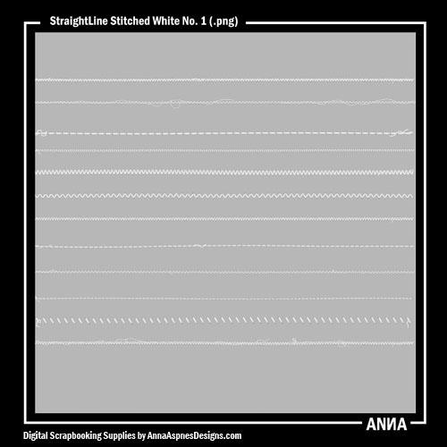 StraightLine Stitched White No. 1