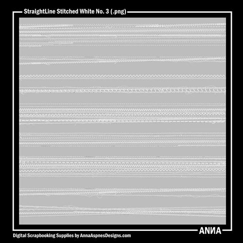 StraightLine Stitched White No. 3