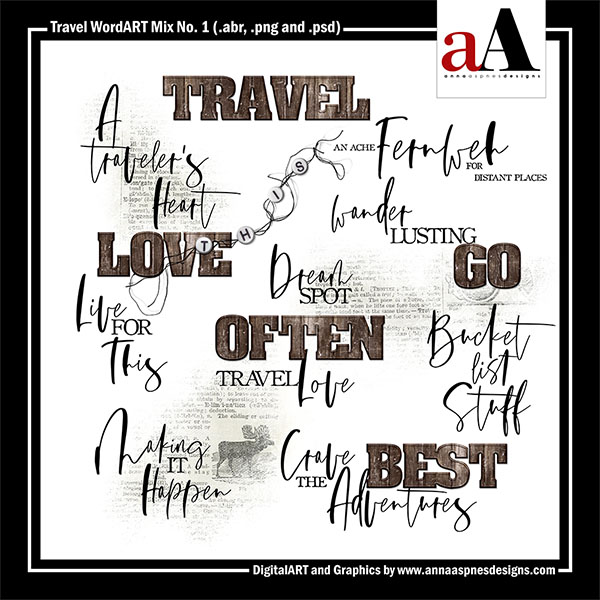 Travel WordART Mix No. 1