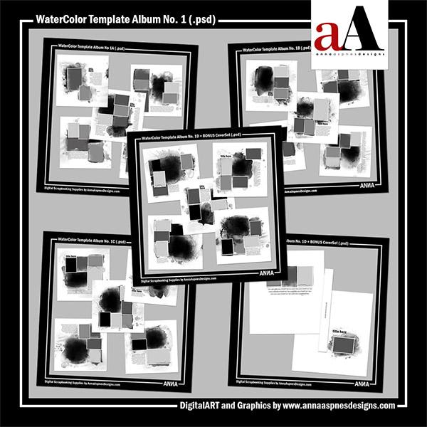 WaterColor Template Album No. 1