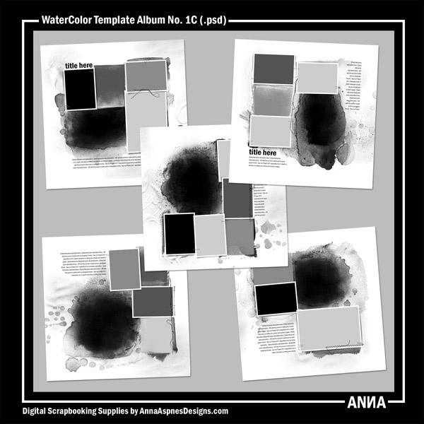 WaterColor Template Album No. 1C