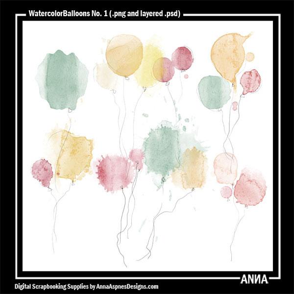 WatercolorBalloons No. 1