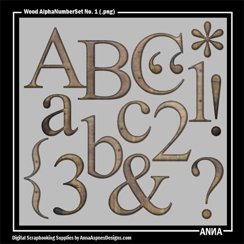 Wood AlphaNumberSet No. 1