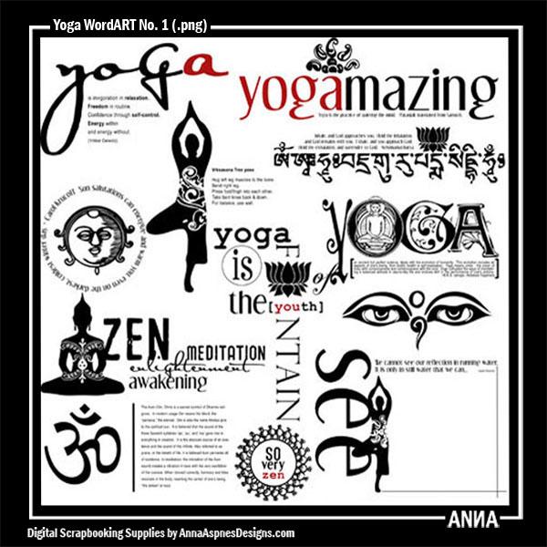 Yoga WordART No. 1