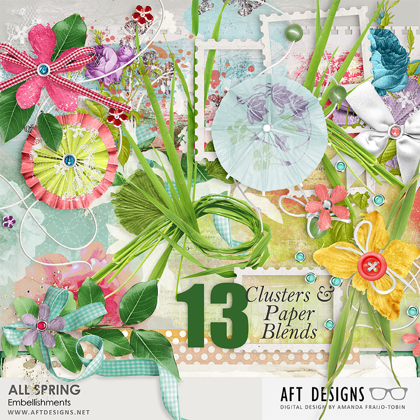 All Spring Embellishment Clusters