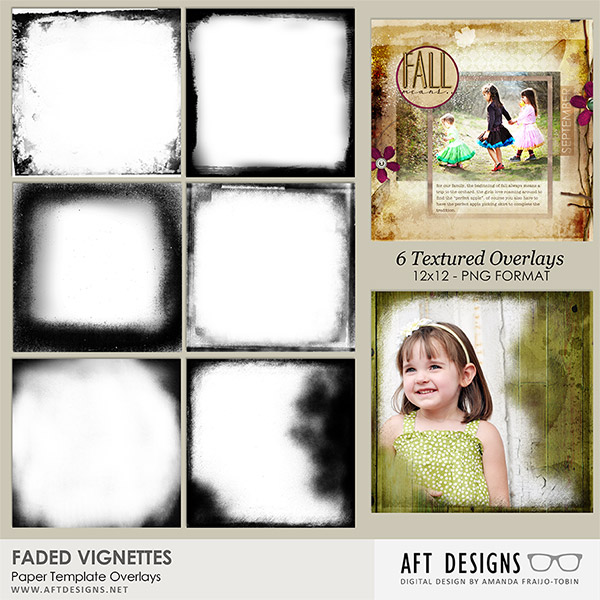Paper Templates - Faded Vignettes