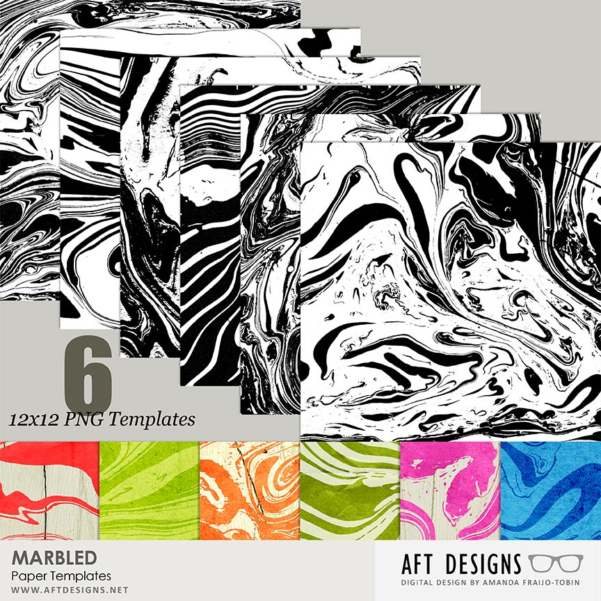 Paper Templates - Marbled