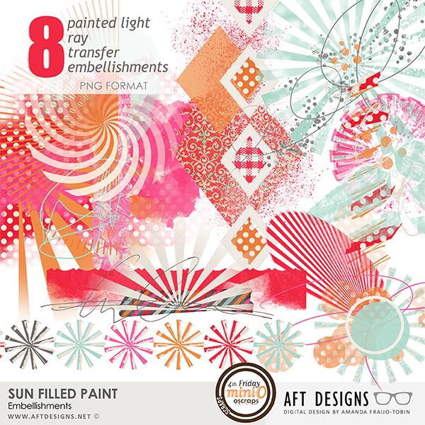 Sun Filled Paint Embellishments