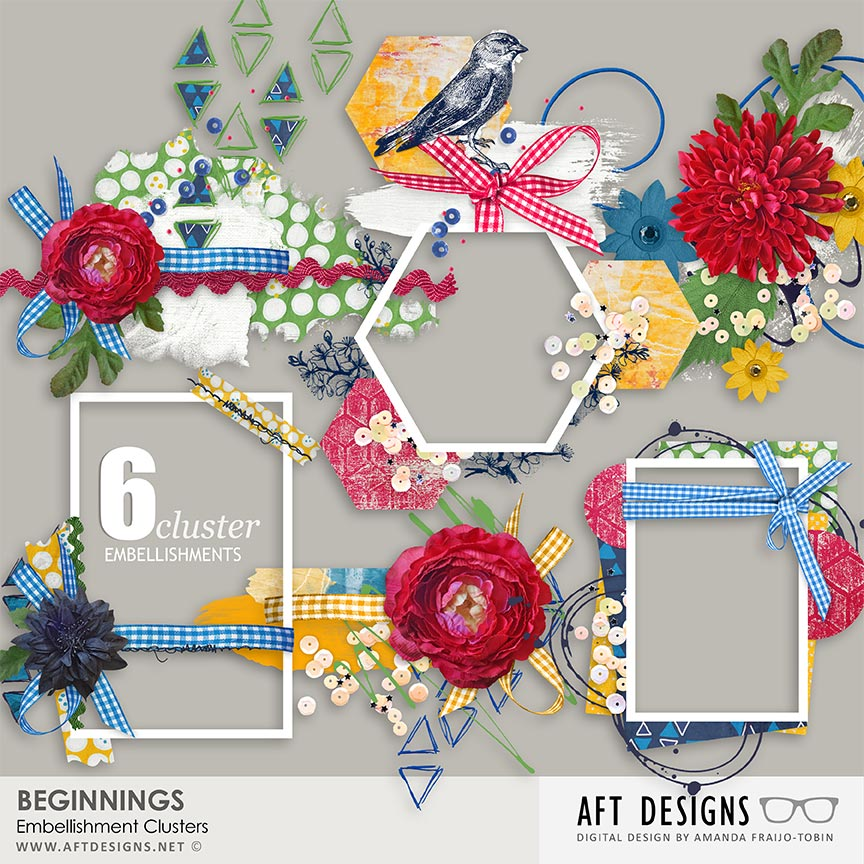 Beginnings Cluster Embellishments
