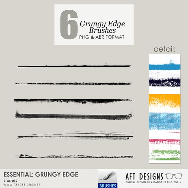 Brush Set: Essential - Grungy Lines