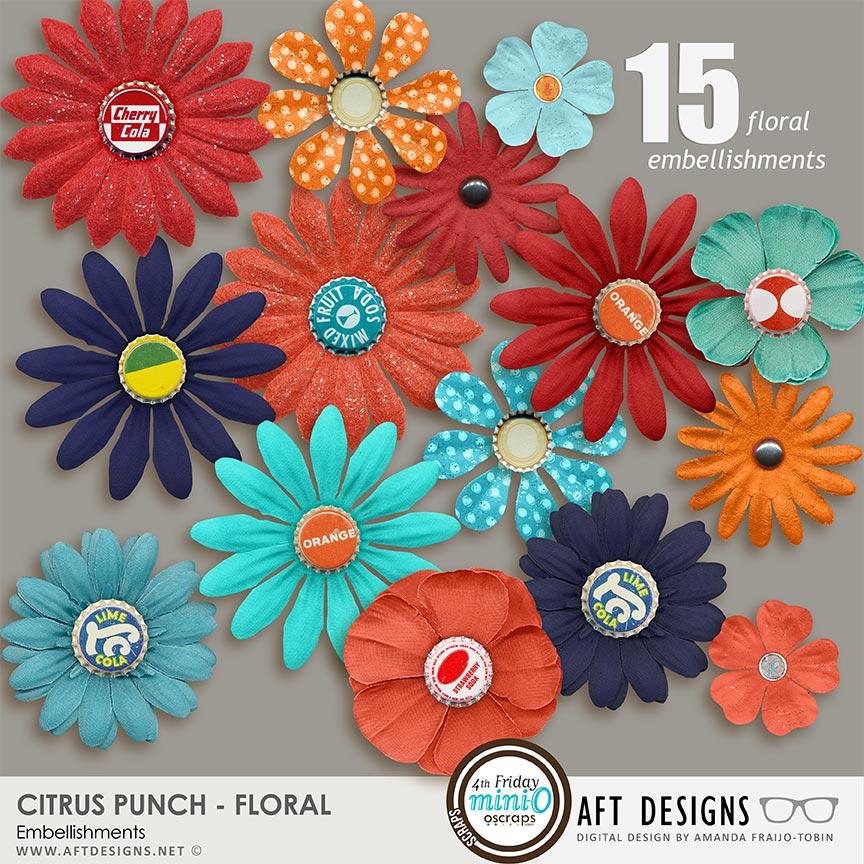Citrus Punch Floral Embellishments
