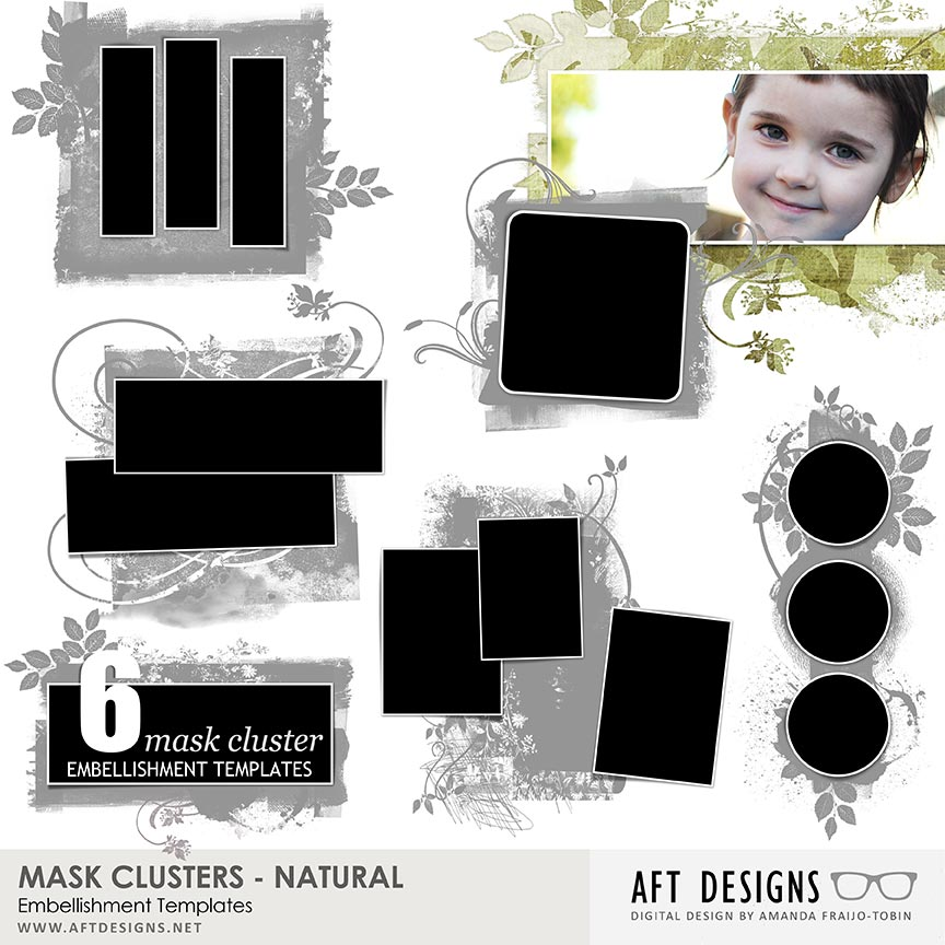 Embellishment Templates - Mask Clusters - Natural