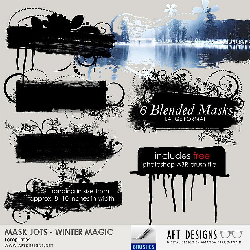 Mask Jots - Winter Magic Embellishment Templates