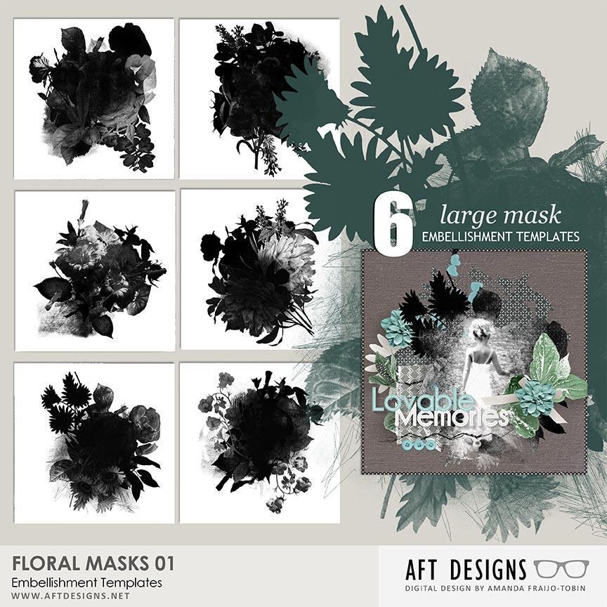 Embellishment Templates - Floral Masks 01