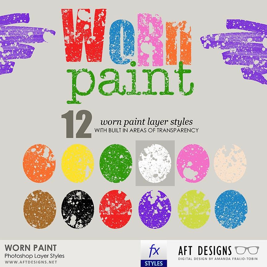 Layer Styles: Worn Paint
