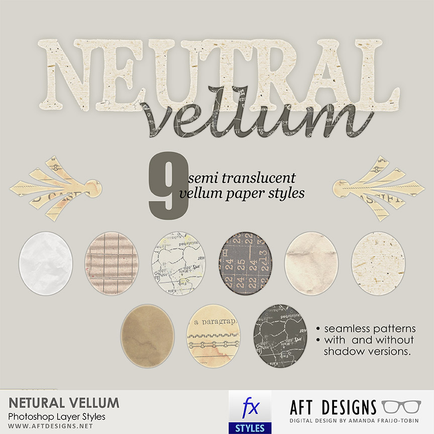 Layer Styles: Neutral Vellum